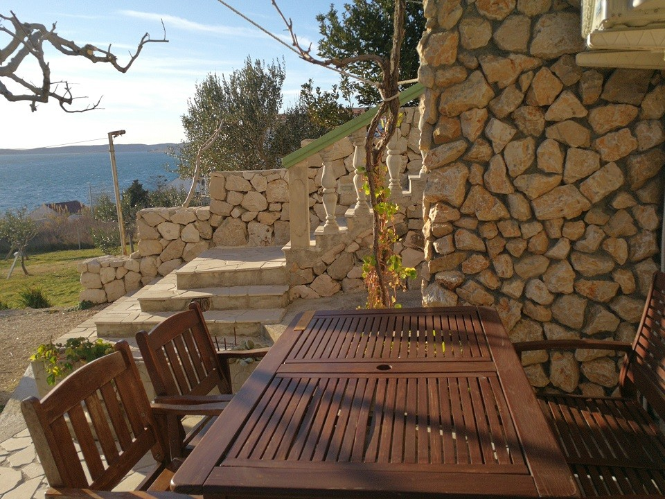 Holiday apartment for 2 people with sea view in Rtina Miletici near Zadar and Pag island